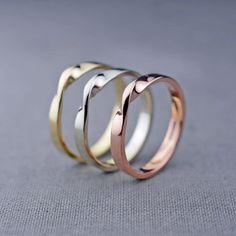 14K Gold Mobius Ring  14K Gold Wedding Band  by LilyEmmeJewelry