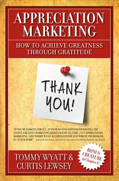 To me there is only one way to run a successful business, Appreciation Marketing, appreciation is a person's #1 craving after the basic human needs, and this book tells you just how to do it, create your dream life today, show someone appreciation and give to be giving not getting and you will win!!!