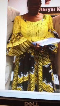 Next Previous Ankara anf lace fabric mix. African Maxi Dresses, African Dresses For Women, Ankara Dress, African Attire, African Wear, African Women, Ankara Gowns, African Print Fashion, Africa Fashion