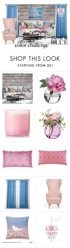 """PINK AND BLUE ROOM"" by nan252 ❤ liked on Polyvore featuring interior, interiors, interior design, home, home decor, interior decorating, Eichholtz, Diane James, LAFCO and LSA International"