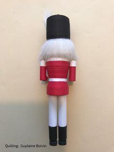 3D Quilling - Christmas Ornament - Ornement de Noël - Nutcracker en quilling - 04-2017
