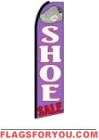 Shoe Sale Feather Flag 2.5' x 11.5'