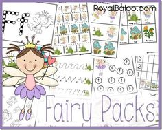 Free Fairy Printables Packs for Tot, PreK, and K-2nd