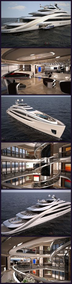 Odyssey Yachts announce release of Motor Yacht 'Nautilus' project. Now THAT'S a yacht! Yea this is my future yacht. Ahould bw ready in the new system. Yacht Design, Yachting Club, Cool Boats, Yacht Boat, Water Crafts, Luxury Living, Dream Cars, Sailing, Awesome
