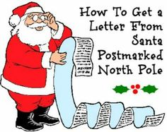 How to get a letter from Santa Postmarked North Pole -Too late for 2012, however great templates for stationary from Santa! All Things Christmas, Winter Christmas, Christmas Holidays, Merry Christmas, Christmas Decorations, Christmas Ideas, Xmas, Christmas Blessings, Christmas 2017