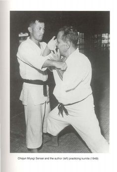 Chojun Miyagi Sensei and Eiichi Miyazato in 1949.