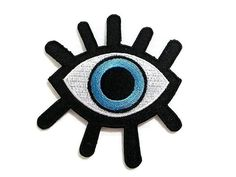 2 Pcs New Eye eyeball tattoo wicca occult goth punk retro embroidered applique iron-on Biker vest patch Applique Fabric, Fabric Patch, Embroidery Patches, Embroidery Applique, Embroidered Patch, Embroidered Clothes, Sew On Patches, Iron On Patches, Wicca