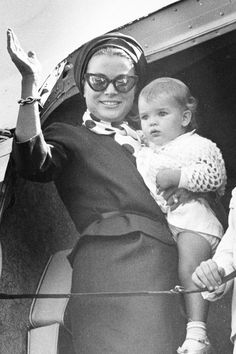 Stephanie with her mother Princess Grace