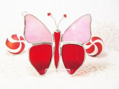 Pink and Red Flutterby by MoreThanColors on Etsy, $26.50