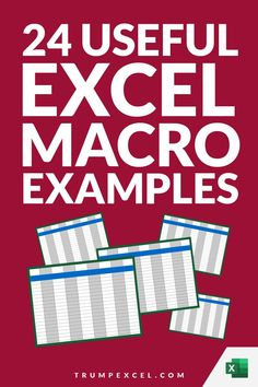Excel macros can save you a lot of time by automating repetitive work. in many cases, only a few lines of code can save you hours and hours of work every week.    Here is a list of 24 simple Excel VBA macros that you can use in your day-to-day work to save time and be a lot more productive. Vba Excel, Microsoft Excel Formulas, Excel Macros, Pivot Table, Work Productivity, Day Work, Computer Tips, Computer Keyboard, Cheat Sheets