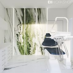 lela dental clinic on Behance Clinic Interior Design, Clinic Design, Bathroom Interior Design, Dental Office Design, Medical Design, Altea, Office Interiors, Furniture Design, Behance