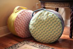 DIY:: Round Floor Poufs- These are Great !
