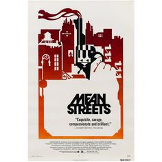Mean Streets Original American Film Poster, 1973   From a unique collection of antique and modern posters at https://www.1stdibs.com/furniture/wall-decorations/posters/