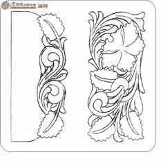 妖妖yoyo采集到手工皮具(43图)_花瓣手工/布艺 Leather Stamps, Leather Art, Custom Leather, Leather Design, Leather Tooling, Leather Carving, Border Pattern, Pattern Design, Leather Working Patterns