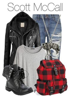 """""""Scott McCall - Teen Wolf"""" by libbysfashion ❤ liked on Polyvore featuring Current/Elliott, Chicnova Fashion, Aéropostale, fail, TeenWolf, themed and ScottMcCall"""