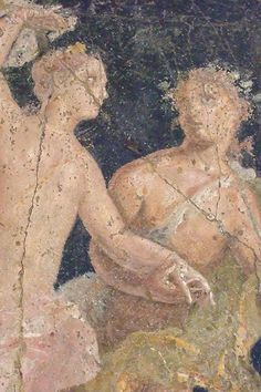 Roman frescoes recovered from Vesuvian Ash in Stabiae century century CE Pompeii Ruins, Pompeii And Herculaneum, Ancient Rome, Ancient Art, Carthage, Italian Paintings, Roman Paintings, Fresco, Minoan Art
