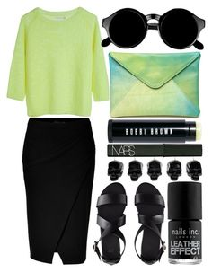 """""""obvilion"""" by jesicacecillia ❤ liked on Polyvore featuring Donna Karan, Bobbi Brown Cosmetics, H&M, Nails Inc., Retrò, D.L. & Co. and NARS Cosmetics"""