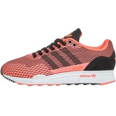 low priced 28304 26ed7 adidas Originals Womens ZX 900 Weave Trainers Red Zest Black White  featuring polyvore women s