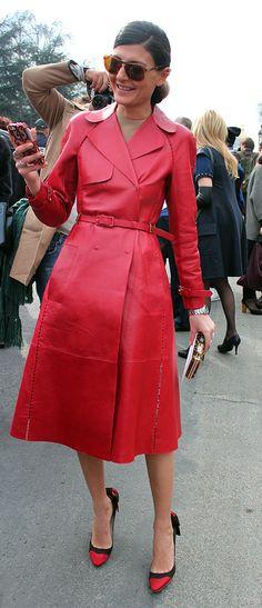 Street look, Paris Fashion Week, February 2013