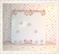 Plump Pink Roses Magnetic Dry Erase Board