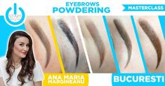 Masterclass - Eyebrows Powdering @StartAcademyCursuri @anamariamargineanu #startacademy #anamariamargineanu #pmu #powder Permanent Makeup, Master Class, Banners, Eyebrows, Mario, Advertising, Hair Styles, Powder, Beauty