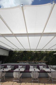 Retractable Fabric Canopy Using Sefar Tenara Fabric 4t40hf