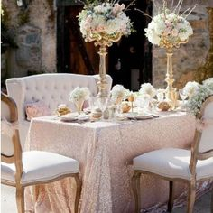 Sequin Table Cloth Hire