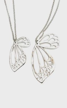 NOTE:  Nice, simple outline to inspire creativity w clay & other mediums. Large Butterfly Wing Necklace