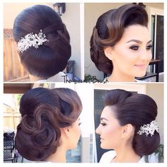 hair style for medium hair wedding hair updos wedding hair hair veils wedding hair hair style girl wedding hair dos hair vines Bride Hairstyles, Vintage Hairstyles, Vintage Updo, Work Hairstyles, Hairstyles Videos, School Hairstyles, Quick Hairstyles, Everyday Hairstyles, Formal Hairstyles