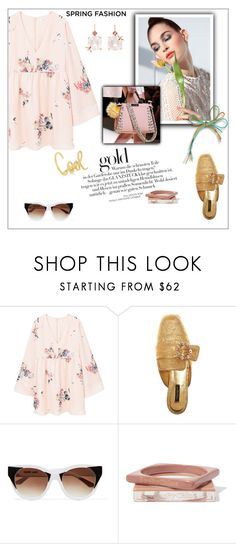 """""""Spring fashion"""" by frenchfriesblackmg ❤ liked on Polyvore featuring MANGO, Dolce&Gabbana, Thierry Lasry, Fendi, See by Chloé and Sharon Khazzam"""