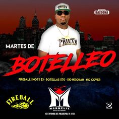 Este #martes @djprieto01 en @marmelyz_bar  #fireball shot $3 #cubetas $10 #hookah $10 #botellas 12 $70  #getenergized Drink @bazookaenergydrink_  Energized by @lazonalatina @evographx @get_energized_promo #hoysebebe #tuesday #latin #nights  #bazookaenergydrink #promo #promotion #bachata #salsa #reggaeton #dembow #bar #drinks #energy #energydrinks #beverage #mixeddrinks #bottles #philly #phillysupportphilly #latinos #ladies #lazonalatina #evographx