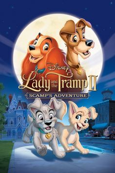 """""""Lady and the Tramp II: Scamp's Adventure"""" - Seeking the freedom to be a wild dog, the son of Lady and the Tramp runs away to join a gang of junkyard dogs. (2001)"""