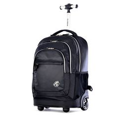 Olympia Gen-X 19 Inch Rolling Backpack *** New and awesome product awaits you, Read it now : Travel Backpack Travel Luggage, Travel Backpack, Luggage Bags, Travel Bags, Fashion Backpack, Outdoor Backpacks, Cool Backpacks, Backpack With Wheels, Black Backpack