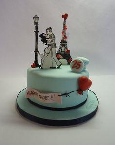 Paris with love - by Diletta Contaldo @ CakesDecor.com - cake decorating website