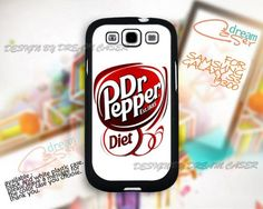 American Original Dr Pepper-Print On Hard Case Samsung GalaxyS3 i9300, but not Diet.