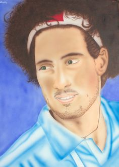 """Marco Simoncelli """"SIC"""" airbrushed on canvas  visit www.luckyart.it"""