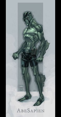 Abe Sapien by ~liquidology on deviantART