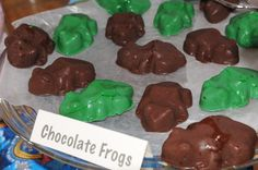 Chocolate Frogs from Honeydukes for Harry Potter party
