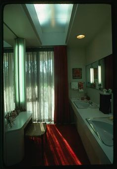 Miller house, Columbus, Indiana, 1953-57. Interior
