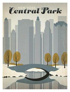 Central Park Reproduction d'art