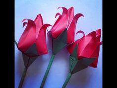 como fazer: uma tulipa de origami - YouTube