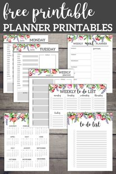 Floral Monthly Planner Template Pages Free Printable Free printable floral planner including daily and weekly planner pages, to do list, meal planner, calendar, and weekly to do list. Floral Monthly Planner Template Pages Free Printable Printable Day Planner, Monthly Planner Template, To Do Planner, Weekly Meal Planner, Free Planner, Printable Paper, Schedule Templates, Happy Planner, Year Planner