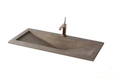 HERCULES – Flanged inlay basin with hidden and labelled drain, produced in custom sizes in 20 distinct colours.  Size: L:100cm W:50cm H:20cm