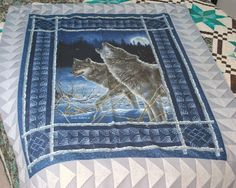 Wolf Fabric Panel Quilt