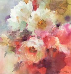 270 best images about Yuko Nagayama Watercolor Artists, Abstract Watercolor, Watercolor Paintings, Watercolors, Art Floral, Abstract Flowers, Watercolor Flowers, Art Aquarelle, Beautiful Paintings