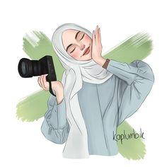 Cute Paintings For Girls Girly Hijab Anime, Anime Muslim, Girl Cartoon, Cartoon Art, Hijab Drawing, Islamic Cartoon, Hijab Cartoon, Islamic Girl, Girly Drawings