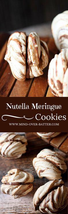 Nutella Meringue Cookies -- www.mind-over-batter.com