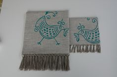 coppia di asciugamani viso/ospite in lino naturale