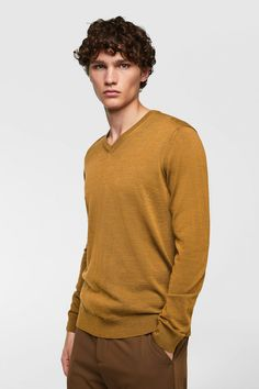 Image 2 of FINE WOOL SWEATER from Zara Zara, Wool Sweaters, Gifts For Dad, Men Sweater, Mens Fashion, Pullover, My Style, Image, Dad Gifts