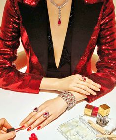 """Bijoux"" photographed by Thomas Lagrange for Vogue Paris March 2015  Stylist: Claire Dhelens"